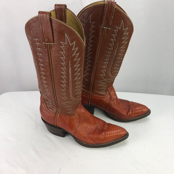 Cowtown Boots Other - Cowtown Womens Brown Lizard Cowboy Boots 6.5B